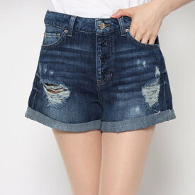 ゲス GUESS VINTAGE DESTROY CLAUDIA DENIM SHORT (DARK WASH)