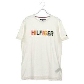 トミーヒルフィガー TOMMY HILFIGER マルチカラーロゴTシャツ (ホワイト)