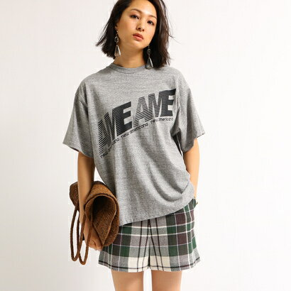 アクアガール aquagirl Americana ビッグシルエットロゴTシャツ (グレー)