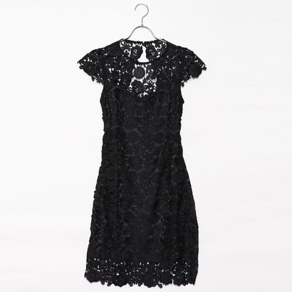 ゲス GUESS JOYA LACE DRESS (JET BLACK W/ FROST GREY)