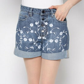 【アウトレット】ゲス GUESS NIKY EXPOSED BUTTONS DENIM SHORT (BLOSSOM THREE)