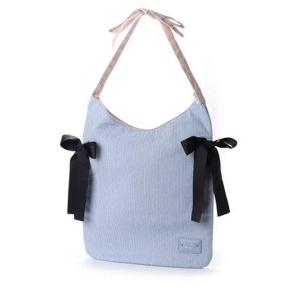 【アウトレット】プリムヴェールリズリサ Primevere LIZ LISA ストライプリボンA4対応バッグ (ブルー)