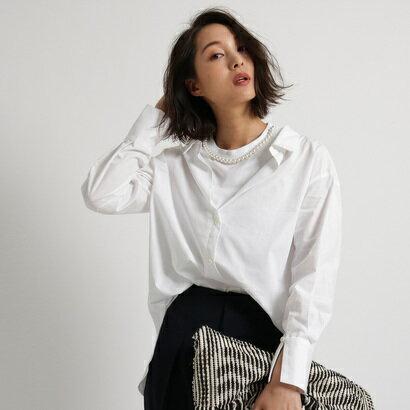 アクアガール aquagirl ◆MUVEIL Tシャツレイヤード風シャツ (ホワイト)
