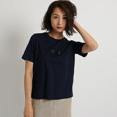 アクアガール aquagirl ◆MUVEIL サガラ刺しゅうTシャツ (ネイビー)