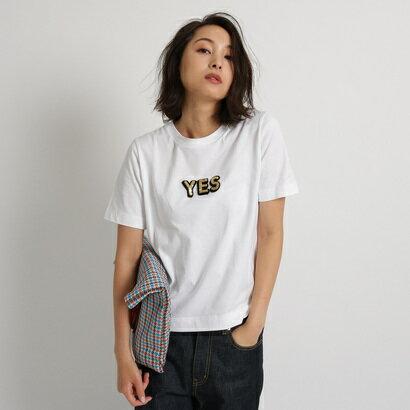 アクアガール aquagirl ◆MUVEIL サガラ刺しゅうTシャツ (ホワイト)
