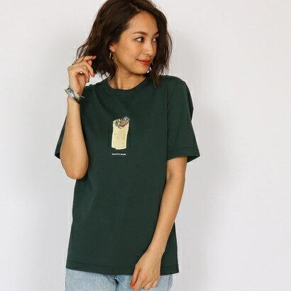 アクアガール aquagirl 【WEB限定】beautiful people ラップサンドTシャツ (モスグリーン)