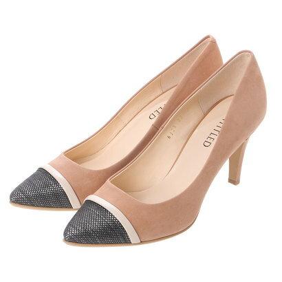 【アウトレット】アンタイトル シューズ UNTITLED shoes 素材切り替えパンプス UT6325 (ベージュ)
