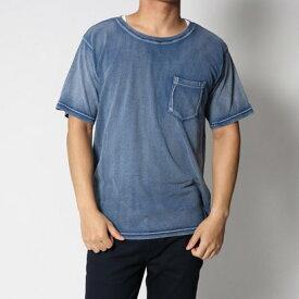 スタイルブロック STYLEBLOCK カットデニムクルーネックTシャツ (ネイビーA)
