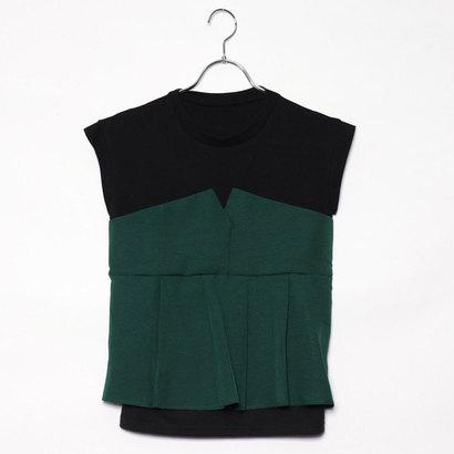 スタイルブロック STYLEBLOCK タックフレアビスチェドッキングTシャツ (グリーン)