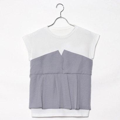 スタイルブロック STYLEBLOCK タックフレアビスチェドッキングTシャツ (ラベンダー)