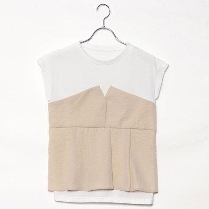 スタイルブロック STYLEBLOCK タックフレアビスチェドッキングTシャツ (ライトベージュ)