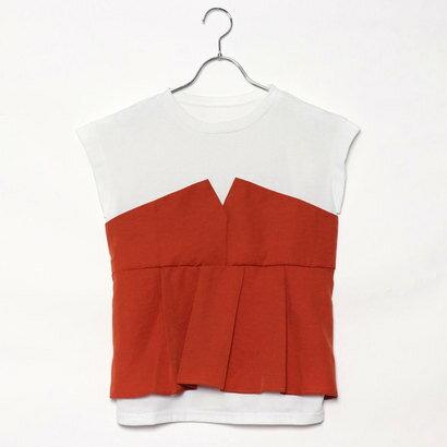 スタイルブロック STYLEBLOCK タックフレアビスチェドッキングTシャツ (オレンジ)