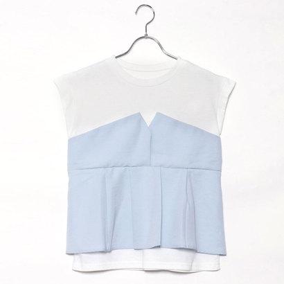 スタイルブロック STYLEBLOCK タックフレアビスチェドッキングTシャツ (サックス)