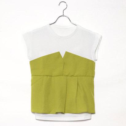 スタイルブロック STYLEBLOCK タックフレアビスチェドッキングTシャツ (イエロー)