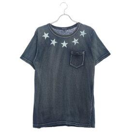 スタイルブロック STYLEBLOCK カットデニムスタープリントポケットTシャツ (ネイビー)
