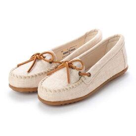 【アウトレット】ミネトンカ Minnetonka CANBAS Moccasin Shoes リミテッドエディション【限定生産品】 (ナチュラル ベージュ)