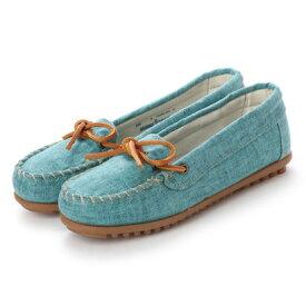 【アウトレット】ミネトンカ Minnetonka CANBAS Moccasin Shoes リミテッドエディション【限定生産品】 (アクア ブルー)