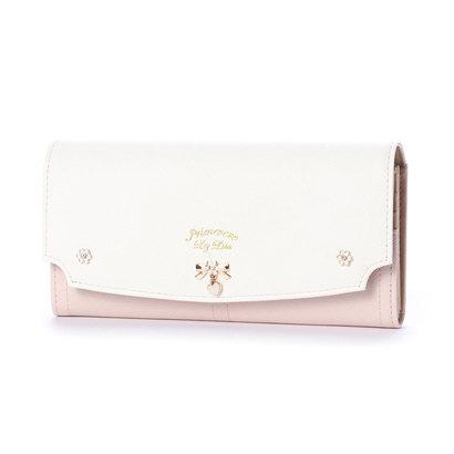 プリムヴェールリズリサ Primevere LIZ LISA ジンジャー リボンブローチ付き配色長財布 (ピンク)