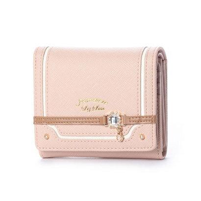 プリムヴェールリズリサ Primevere LIZ LISA カカオ ビジュー金具付2つ折り財布 (ピンク)