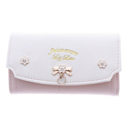 プリムヴェールリズリサ Primevere LIZ LISA ジンジャー リボンブローチ付き配色キーケース (ピンク)