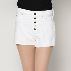 ゲス GUESS 1981 HIGH-RISE DENIM SHORT (OPTIC WHITE)