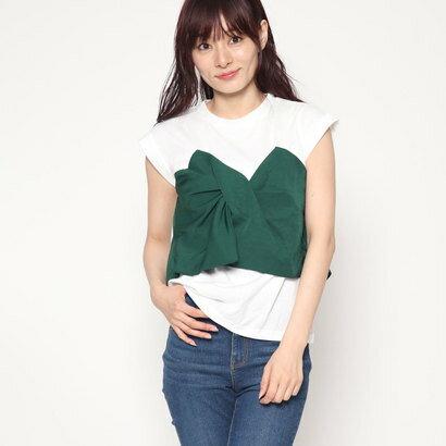 スタイルブロック STYLEBLOCK ツイルビスチェドッキングTシャツ (グリーン)