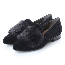 【アウトレット】アンタイトル シューズ UNTITLED shoes パンプス (ブラックベルベット)