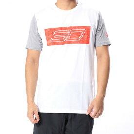 【アウトレット】アンダーアーマー UNDER ARMOUR バスケットボール 半袖Tシャツ UA SC30 Logo SS Tee 1317938