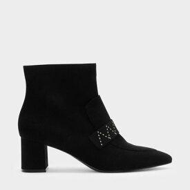 【アウトレット】クラシック ブロックヒール ブーツ / CLASSIC BLOCK HEEL BOOTS (Black)