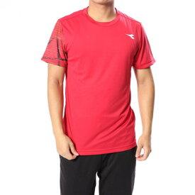 【アウトレット】ディアドラ Diadora メンズ テニス 半袖Tシャツ TEAMトップ DTP8587