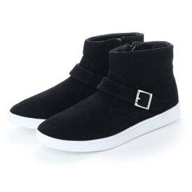 スタイルブロック STYLEBLOCK ベルト付きブーツ (ブラック×ホワイト)