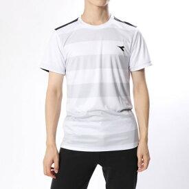 ディアドラ Diadora メンズ テニス 半袖Tシャツ CSCボーダートップ DTP8584