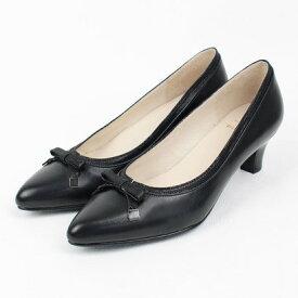 ソフィアコレクション Sophia collection ソフィアコレクション ボロネーゼアーモンドトゥリボンパンプス (ブラック)