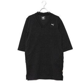 【アウトレット】プーマ PUMA レディース ゴルフ 長袖ワンピース ゴルフW ショールカラー ドレス 923801