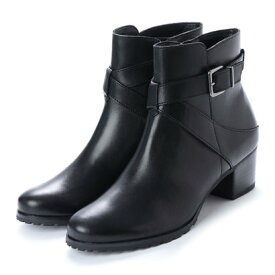 ベルフローリー BELL FLORRIE クロスベルトショートブーツ (ブラック)