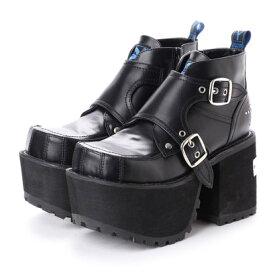 ヨースケ YOSUKE [原宿店×YOSUKE 限定コラボアイテム]厚底ショートブーツ (ブラック)