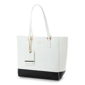 セシルマクビー CECIL McBEE CECIL McBEE カロ パスケース付配色A4対応トートバッグ (ホワイト)