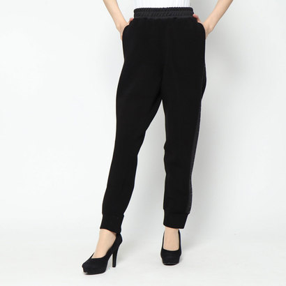 ゲス GUESS CLAUDIA SIDE LOGO JOGGING PANT (JET BLACK)