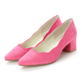 ラヴェニュー L'avenue 羊革スエードふわふわインソールパンプス (ピンク)