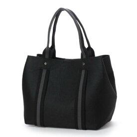 【アウトレット】クーコ COOCO フェルトコンビハンドルトートバッグ【A4サイズ対応】 (ブラック)