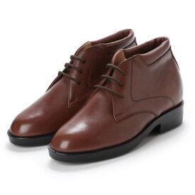 キタジマ 北嶋製靴 【7cmアップ】牛革ソフトデザートブーツ シークレットシューズ シークレットブーツ 本革日本製 No.350 (ブラウン)