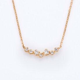 ソーイ sowi 【K18・ダイヤモンド】つぶきらコレクション ネックレス (ホワイト)