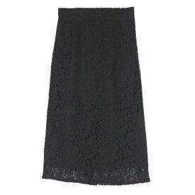ユアーズ ur's レースタイトスカート (ブラック)