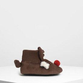 【アウトレット】キッズトナカイ ブーティ / Kids Reindeer Booties (Brown)