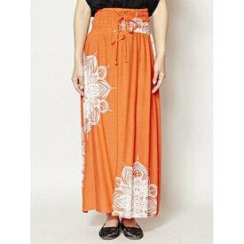 【アウトレット】【チャイハネ】yul 曼荼羅模様ロングスカート ベアワンピース 2WAY オレンジ