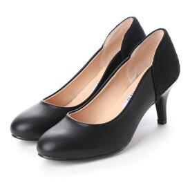 ジェミニ GeMini パンプス 痛くない 脱げない 結婚式 フォーマル 靴 シューズ レディース 6101 (PuBlack)