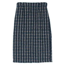 ユアーズ ur's ツイードタイトスカート (グリーン)