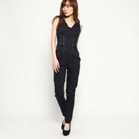 ゲス GUESS NORA CORSET DENIM JUMPSUIT (NIGHTY)