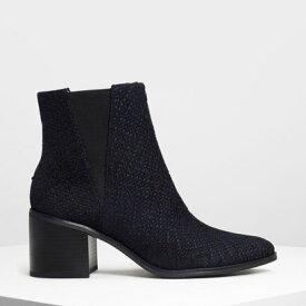 【アウトレット】クラシック ブロックヒールブーツ / Classic Block Heel Boots (Dark Blue)