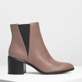 【アウトレット】クラシック ブロックヒールブーツ / Classic Block Heel Boots (Mauve)